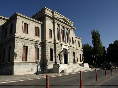 Άποψη του Δικαστικού Μεγάρου απο την Πλατεία Άρεως